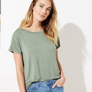 NEW NWT Loft Drop Shoulder Tee in Sunkissed Leaf